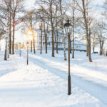 Vinter på Dömle Herrgård
