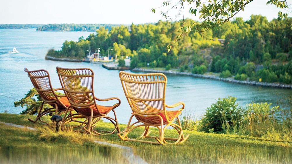 Vacker utsikt från Fredriksborg Hotell