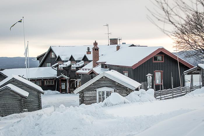 Vinter på Fryksås hotell