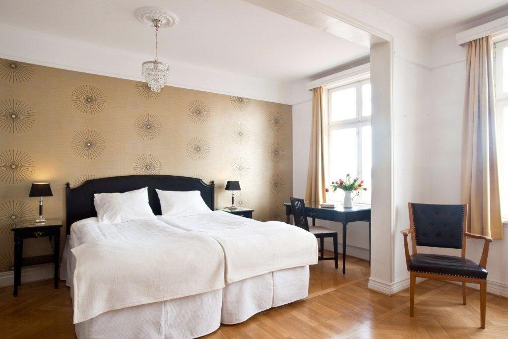 Hotellrum på Möckelsnäs herrgård