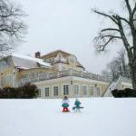 Vinter på Möckelsnäs herrgård