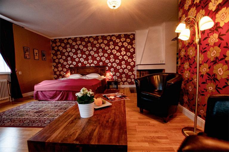 Hotellrum på Söderfors Herrgård