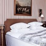 Hotellsäng på Västanå slott