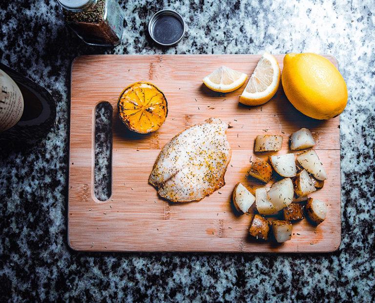 Recept på smörstekt gös med viergesås