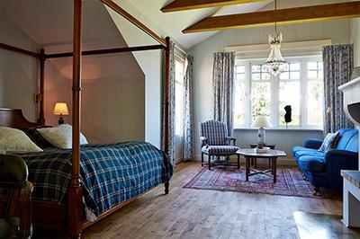 Mysigt hotellrum på Hestraviken hotell & restaurang