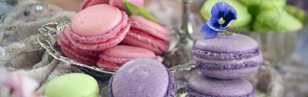 Recept på blåbärsmakroner