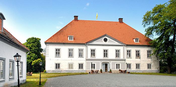 Exteriörbild på Västanå slott