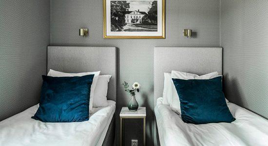 Hotellrum på Dömle Herrgård
