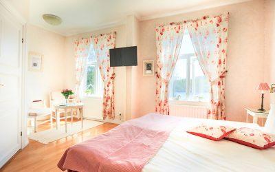 Hotellrum på Hennickehammars Herrgård