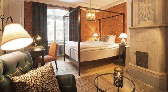 Mysigt hotellrum på Rosersbergs Slott